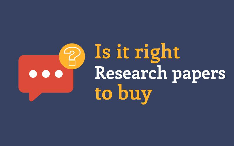 Is it right to buy research paper online?
